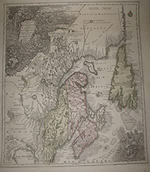 (Map of colonial northeastern Canada): Partie Orientale de la Nouvelle France ou du Canada.Terre-...