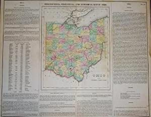 (Map of Ohio): Geographical, Statistical, and Historical Map of Ohio
