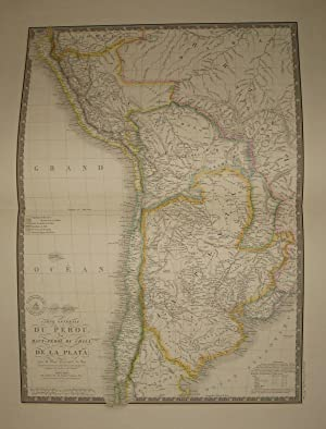 (Map of Southern South America- Peru, Patagonia, Argentina, Chile): Carte Generale Du Perou, Du H...