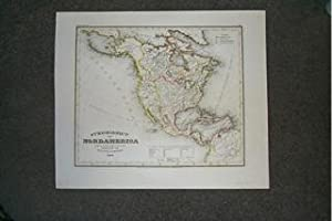 (Map of North America): Stromgebiet Von Nordamerica.1847