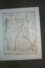 (Map of New Hampshire, Vermont): Neueste Karte Von New Hampshire Und Vermont 1846
