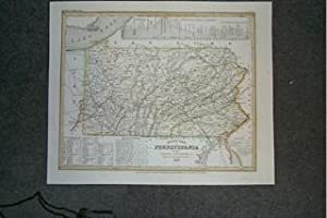 (Map of Pennsylvania): Neueste Karte Von Pennsylvania.1845