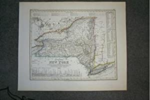 (Map of New York): Neueste Karte Von New York.1851