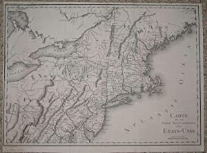 (Map / Chart of New England- USA): Carte De La Partie Septentrionale Des Etats_Unis