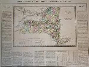 (Map of New York): Carte Geographique, Statistique et Historique Du New_York