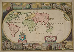 [World Map, Bible]: A Map of all the Earth and how after the Flood it was divided among the Sons ...