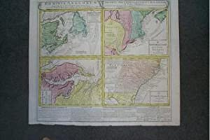 (Map of British Colonies in America-- Virginia, Maryland, New England, Carolinas, Newfoundland, N...