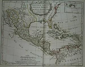 (Map of New Spain, Southeastern USA, Mexico, Gulf of Mexico, Central America, Antilles): Nouvelle...