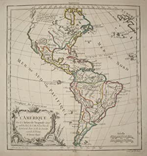 (Map of North and South America): L'Amerique Par le S. Rober De Vaugondy.
