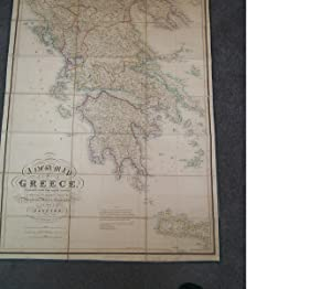 (Linen Backed Map - Greece & Islands): A New Map of Greece, Constructed Chiefly from Original Mat...