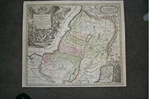 (Map / Chart of Holy Land, Israel- 12 Tribes): Regio Canaan Seu Terra Promissionis. Postea Judaea...