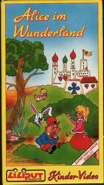 ALICE IM WUNDERLAND. Kindervideo in Farbe. Ohne: Nach der fantastischen