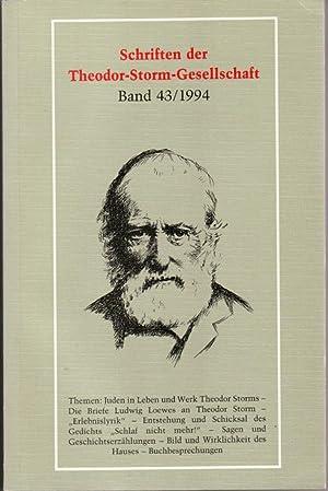 SCHRIFTEN DER THEODOR-STORM-GESELLSCHAFT, Band 43/1994. Themen: Juden: Hrsg: Laage Karl