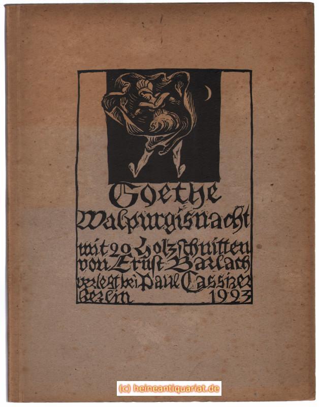 Walpurgisnacht. Mit 20 Holzschnitten von Ernst Barlach.: Goethe, [ Johann