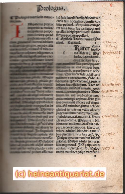 Mammotrectus super Bibliam. (.) venetijs opera impensis: Marchesinus, Johannes
