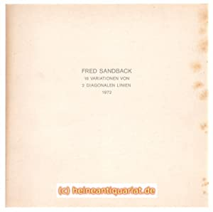16 Variationen von 2 diagonalen Linien. 1972.: Sandback, Fred