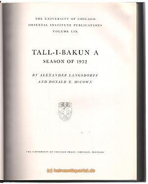 Tall - I - Bakun A. Season: Langsdorff, Alexander /