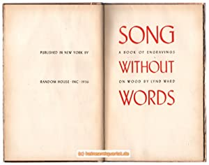 Song without words. A book of engravings on wood by Lynd Ward.