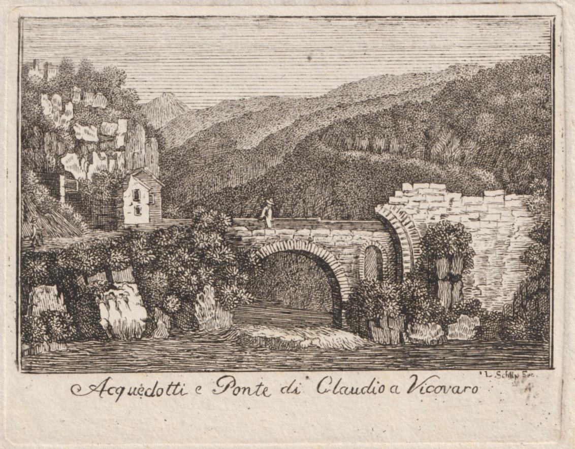 Acquedotti e Ponte di Claudio a Vicovaro.: Unleserlich sign. :