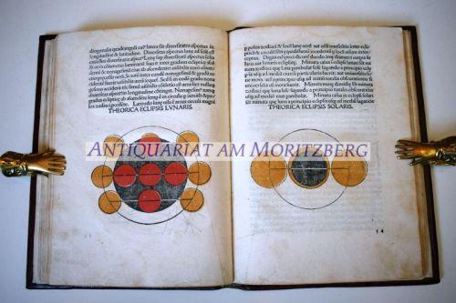Sphaera mundi. Daran Georg Purbach: Motus planetarum.: Astronomie - Johannes