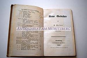 Neue Gedichte. 2. Auflage.: Heine, Heinrich: