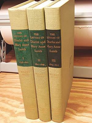 The Letters of Charles and Mary Anne Lamb (three volumes)
