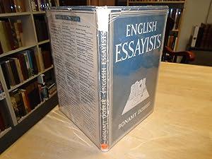 bonamy dobree english essayists Dobrée, bonamy, 1891-1974 box 1 folder 1 correspondence to allanah harper, 1928-1931 box 1 folder 2-5 english literature in the early eighteenth century (1959), partial typescript.