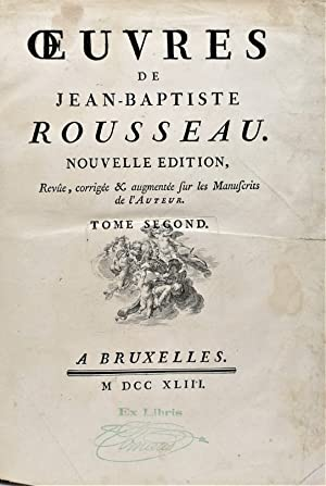 Oeuvres.: Rousseau Jean Baptiste