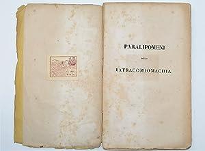 Paralipomeni Della Batracomiomachia: Leopardi Giacomo