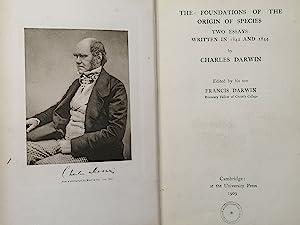 The Foundations of the Origin of Species: Darwin, Charles; Darwin,