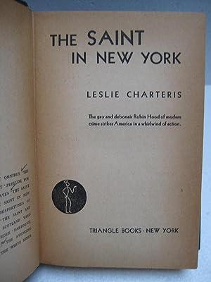 THE SAINT IN NEW YORK: Charteris, Leslie