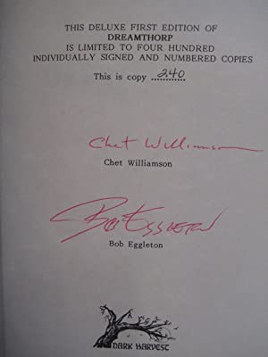 DREAMTHORP: Williamson, Chet, Illustrated by Bob Eggleton