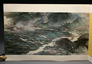 THE GREAT YANGTZE RIVER. Chang Dai-Chien's Painting.: Chang Dai-Chien