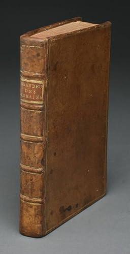 CONSIDERATIONS SUR LES CAUSES DE LA GRANDEUR: Montesquieu, Charles de