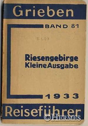 Riesengebirge., Kleine Ausgabe mit Angaben für Automobilisten und Wintersportler.: o.A.: