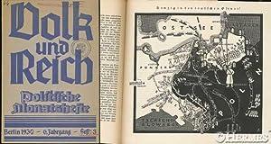 Danzig., Volk und Reich. Politische Monatshefte. Heft 3.: Heitz, Friedrich [Hrsg.]: