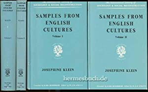 Samples From English Cultures., In Two Volumes. Volume I: Three Preliminary Studies. Aspect of ...