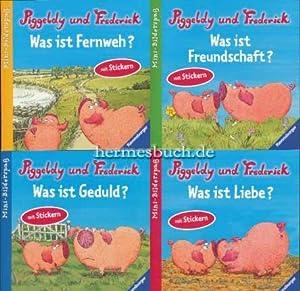 4 x neue Mini-Bücher mit Piggeldy und Frederick.: Loewe, Dieter und Elke Loewe: