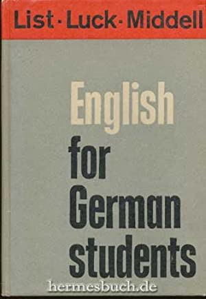 English for German students., A new textbook.
