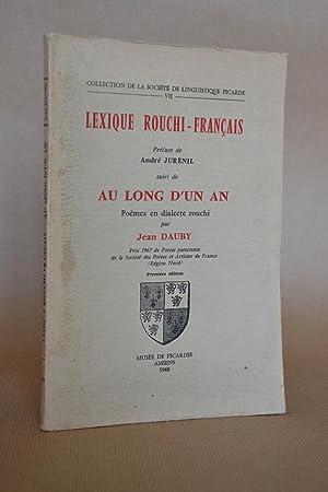 """Lexique rouchi-français, suivi de """"au long d'un: Jurénil, André (préface)"""