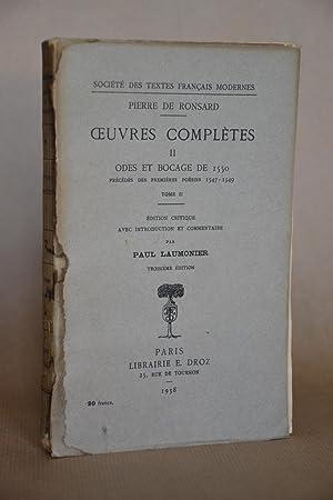 Pierre de Ronsard - Oeuvres Complètes, tome: Ronsard, Pierre De