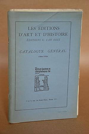 Les Éditions D'art et d'Histoire - Editions G. Van Oest. Catalogue Gén&...
