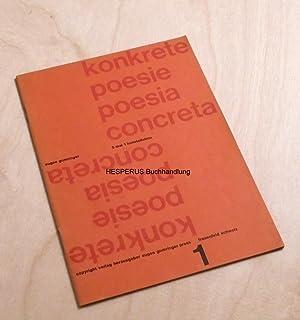 konkrete poesie - Heft 1: gomringer, eugen (hrsg.).