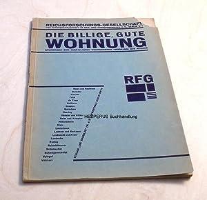 Die billige, gute Wohnung: Reichsforschungs-Gesellschaft/ Schwitters, Kurt