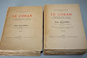 INTRODUCTION AU CORAN. & LE CORAN. Traduction: BLACHERE (Régis)