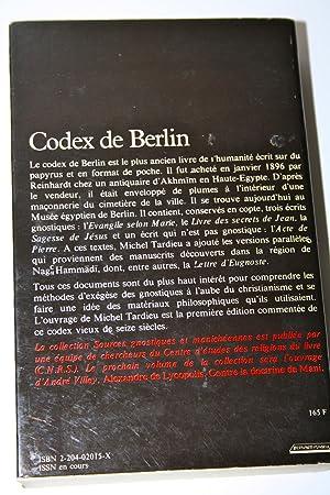 ÉCRITS GNOSTIQUES. Codex de Berlin. «Source gnostique et manichéennes&...