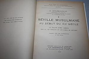 Séville musulmane au début du XIIe siècle. Le traité d'Ibn 'Abdun sur ...