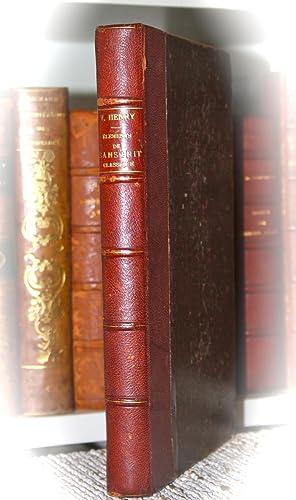 Eléments de Sanskrit classique.: VICTOR. (H)