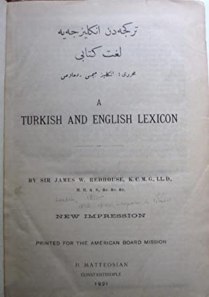 A Turkish and English Lexicon - 2: Redhouse, Sir James