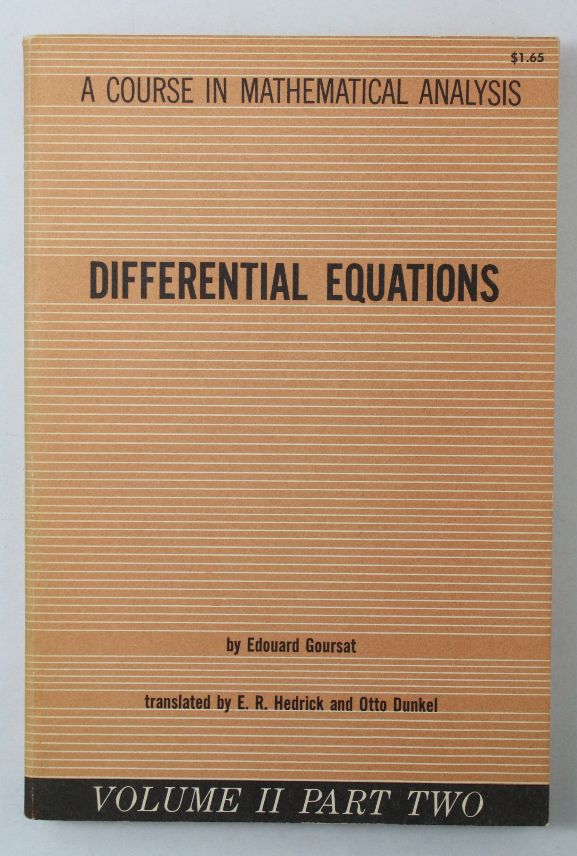 Differential Equations Volume 2 A Course in